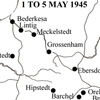 Map of area, May 1945